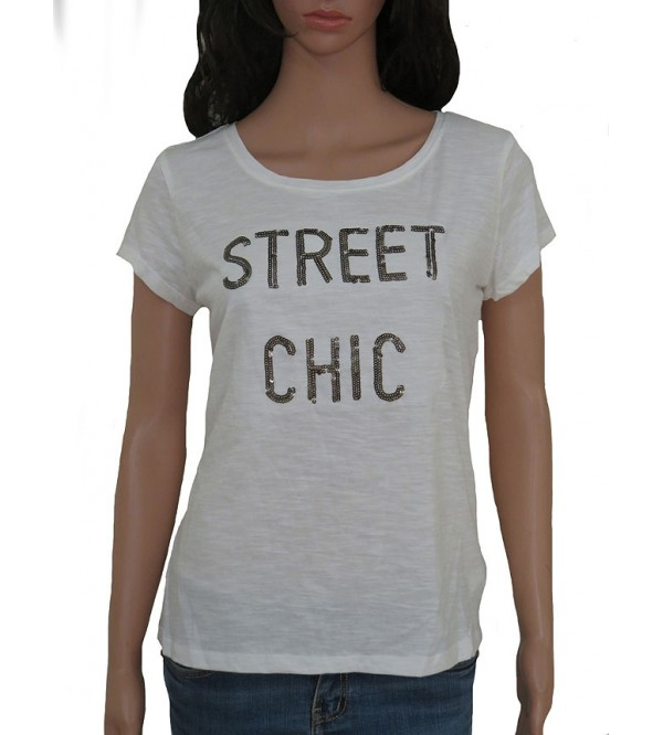 Ladies Sequinned T Shirts