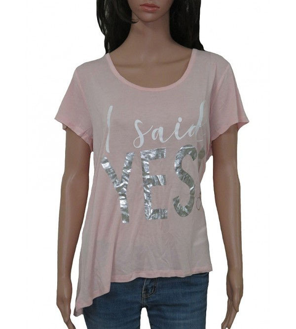 Ladies Foil Printed Viscose T Shirts