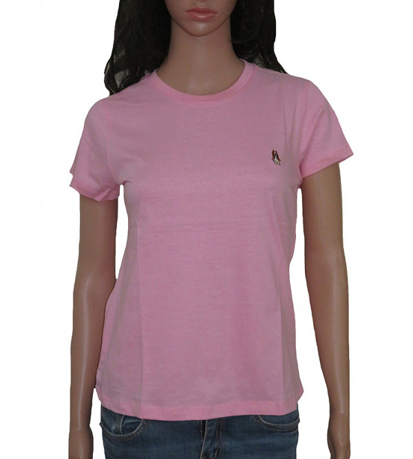 Ladies Short Sleeve Crew Neck T Shirts