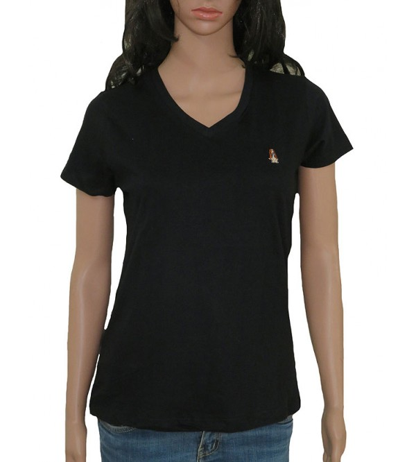Ladies Short Sleeve V Neck T Shirts