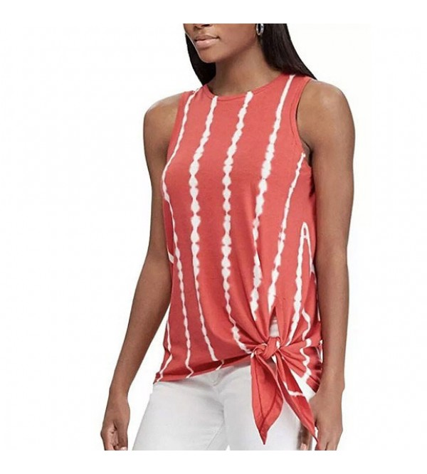 Ladies Tie-dye Top with Tie-feature