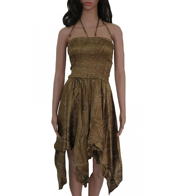 Ladies Polyester Woven Tube Dress