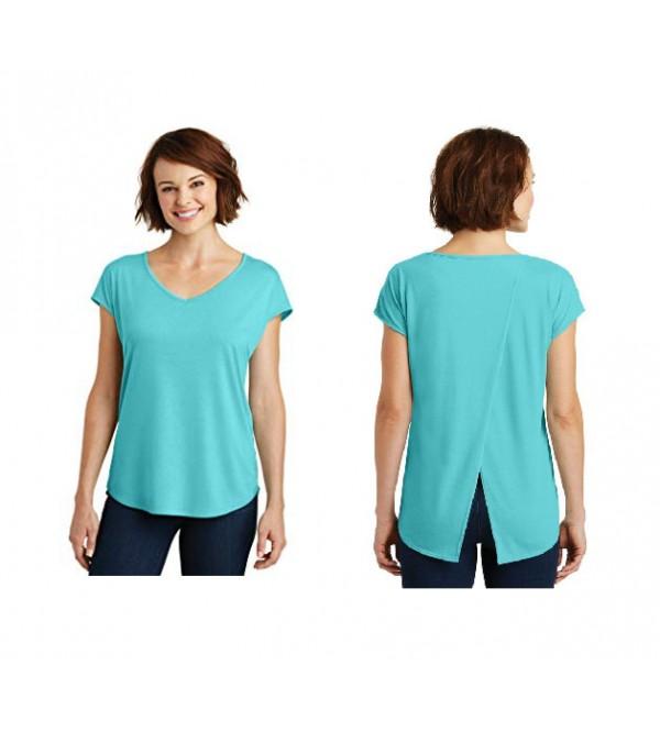Ladies Rayon Drapey Cross-Back T Shirts