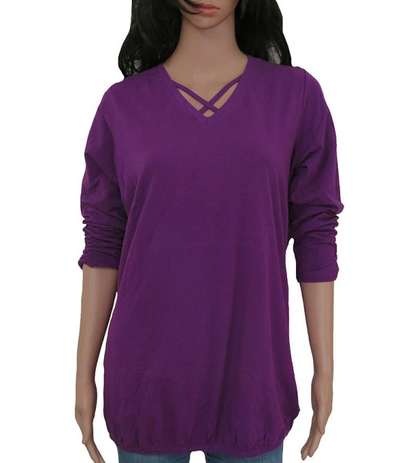 Ladies 3/4th Sleeve Stretch T shirts Relaxed Fit