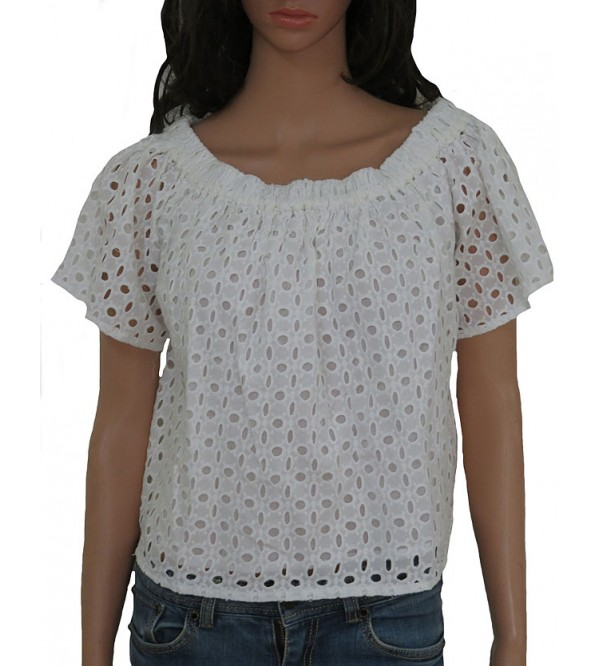 Ladies Eyelet fancy top