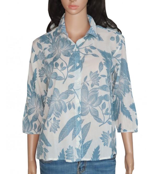 Ladies Printed Crepe Woven Shirt