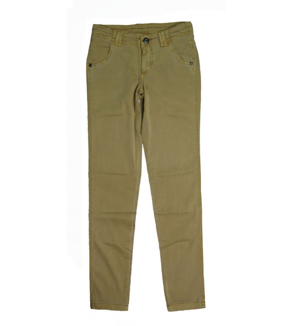 Ladies Regular Fit Stretchable Twill Pant