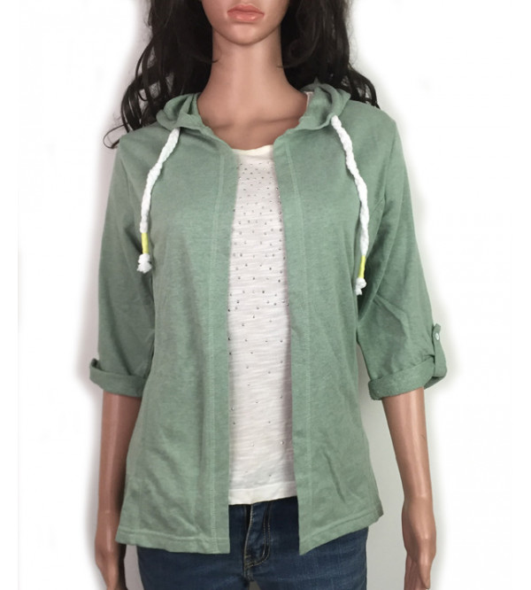 Ladies Layered Winter Shrug With Hoodie