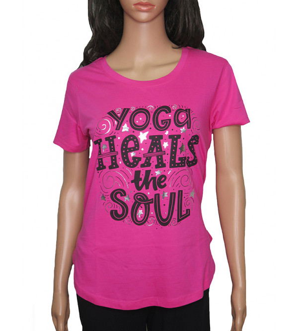 Ladies Printed Yoga T Shirts