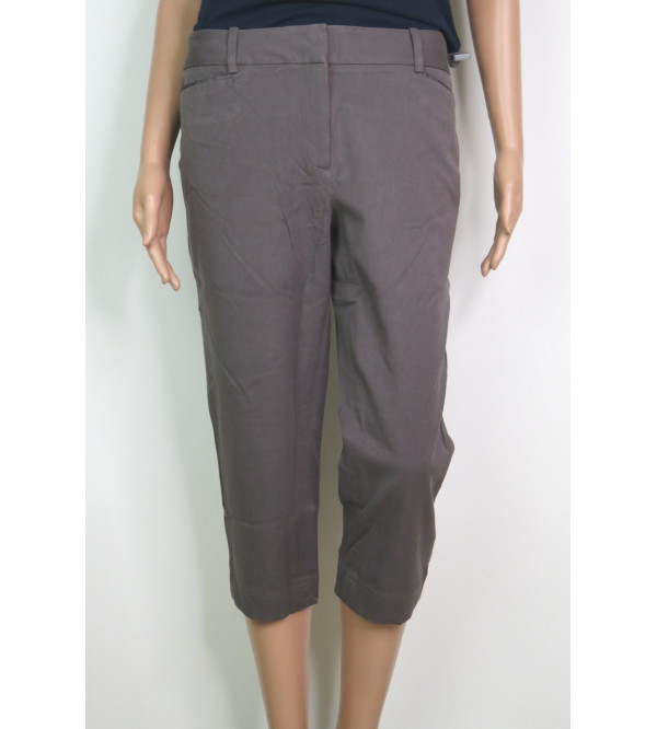 Ladies Washed Casual Woven Capris