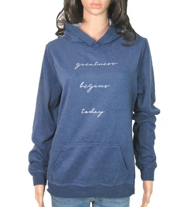 Ladies Hooded Pullover Sweatshirts