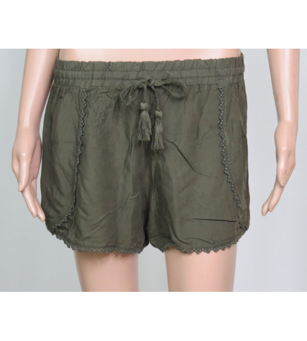 Ladies Viscose Woven Shorts