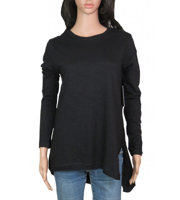Ladies Slub Knit Long T Shirt