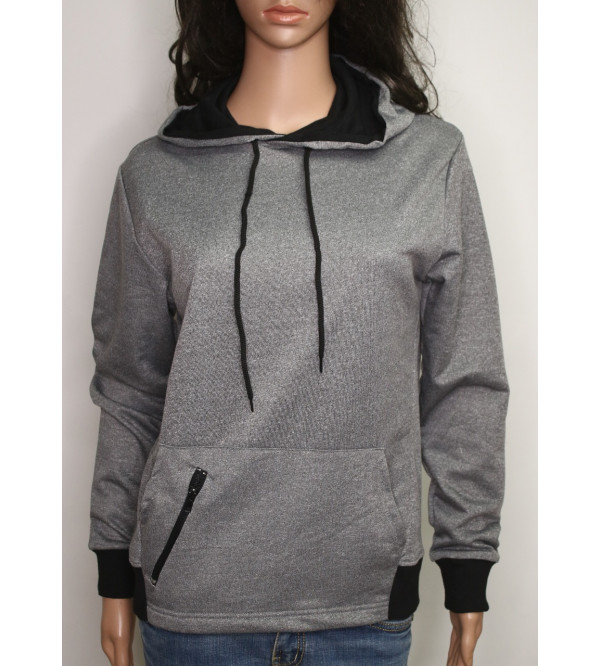 Ladies Hooded Pullover Sweatshirt