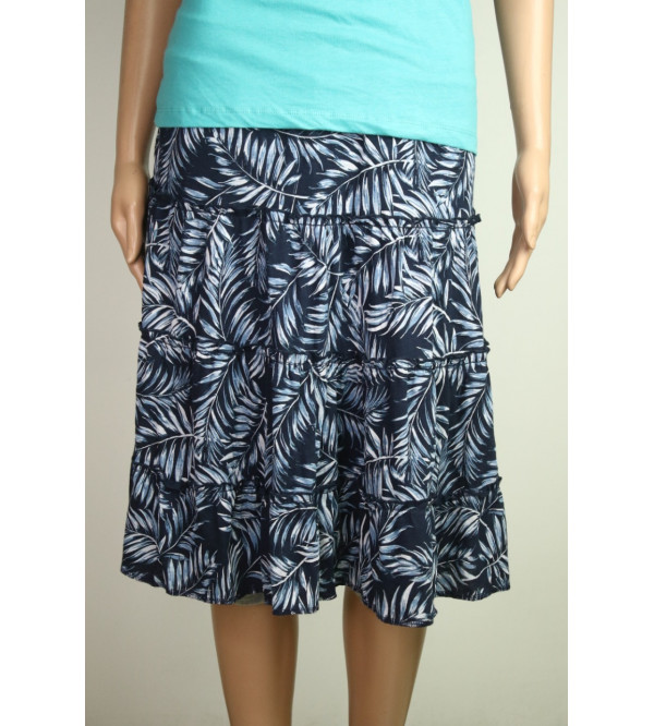Ladies Ruffled Woven Skirt
