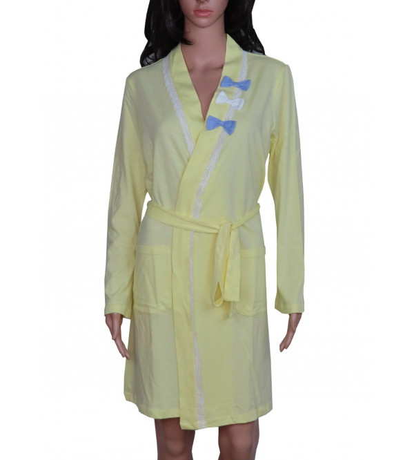 Ladies Sleepwear Nightgown Robe With Belt