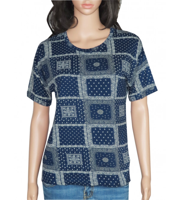 Ladies Viscose Printed  T Shirt