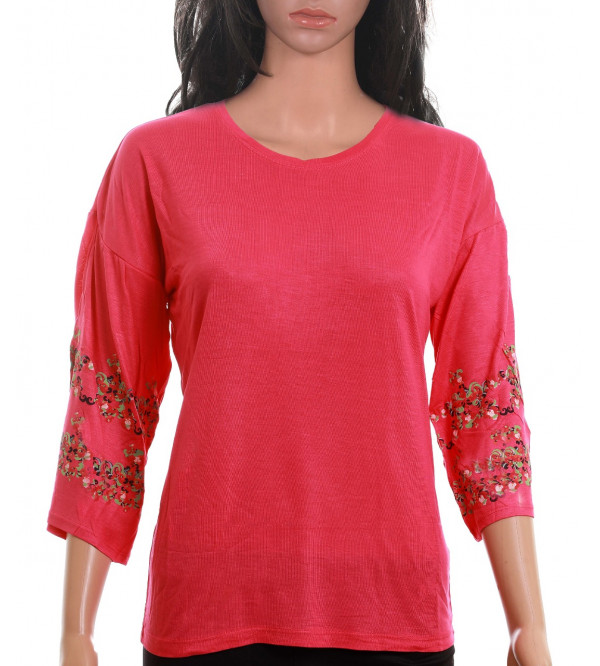 Ladies 3/4th Sleeve Stretch T Shirt