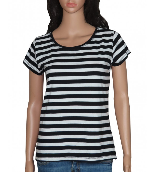 Ladies Striped Stretch Top