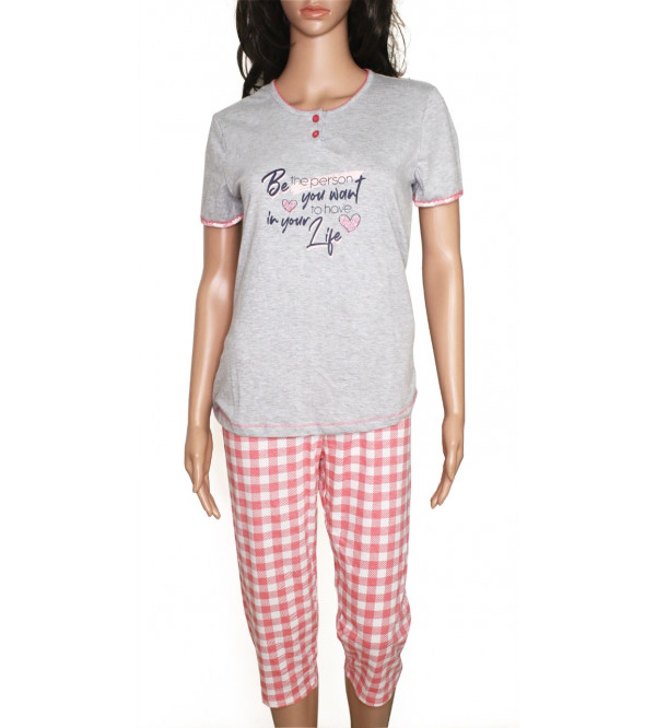 Ladies Capri Pyjama Set Box Packaged