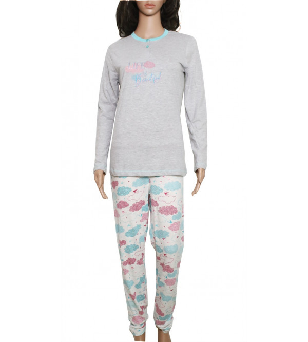 Ladies Printed Pyjama Set Box Packaged