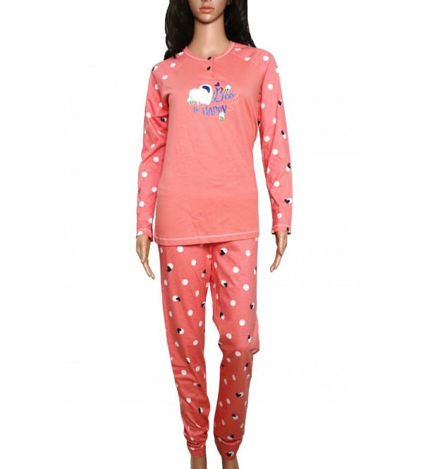 Ladies Printed Pyjama Set Box Packaged