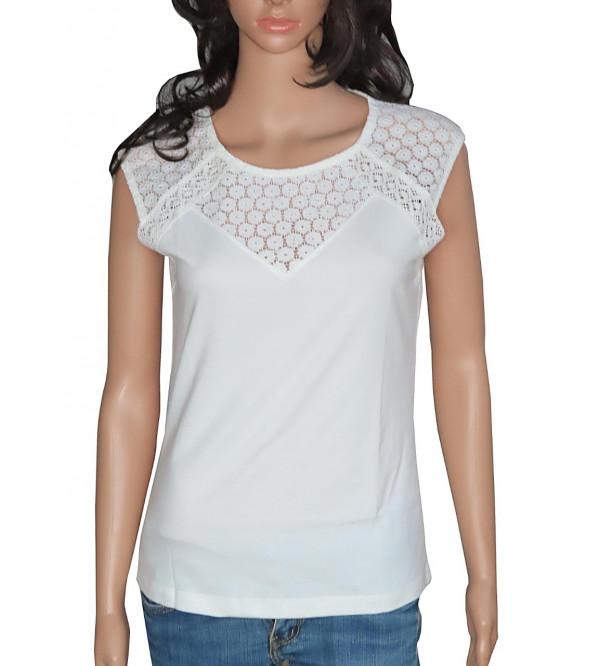 Ladies Sleeveless Crochet T Shirt