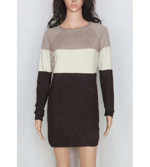 Ladies Viscose Pullover Knit Long Sweater