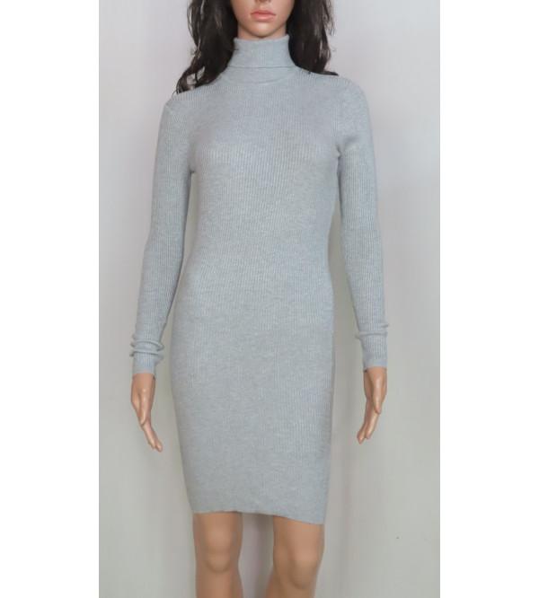 Ladies Viscose High Neck Sweater Knit  Dress