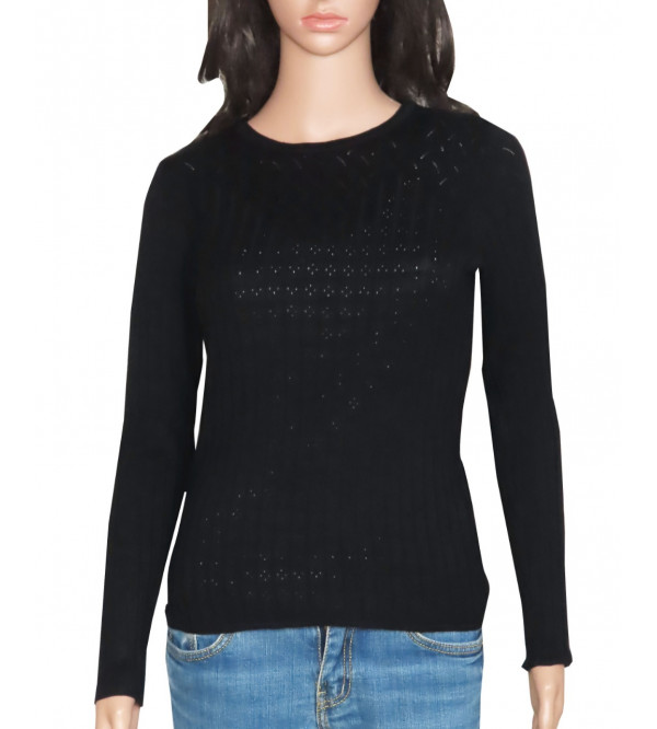 Ladies Viscose Pullover Knit Sweater