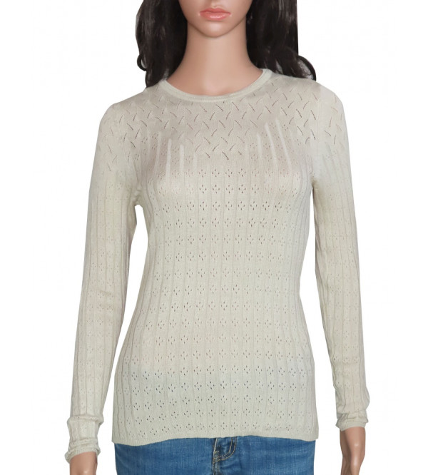 Ladies Viscose Pullover Knit Sweaters