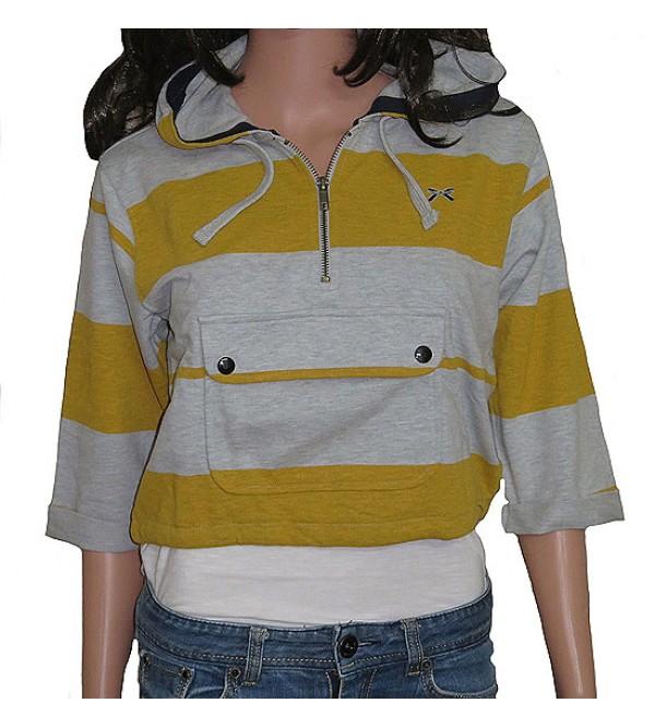 Ladies Cropped Hooded Sweat Shirt