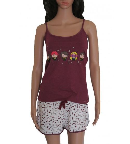 Harry Potter Ladies Printed Knit Shorty Pyjama Set