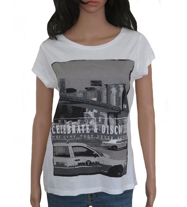 Ladies Short Sleeve Printed T Shirt