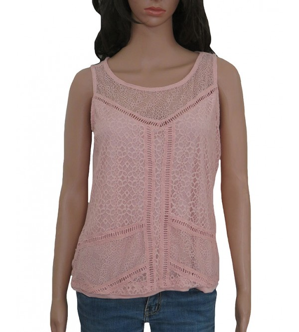 Ladies Stretch Sleeveless Crochet Party Top