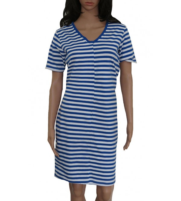 Ladies Yarn Dyed Striped Stretch Nighty