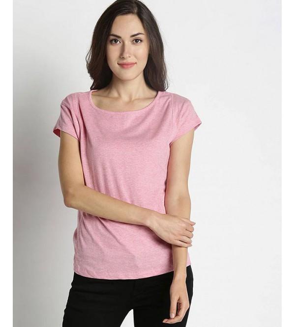 Ladies Short Sleeve Crew Neck T Shirts