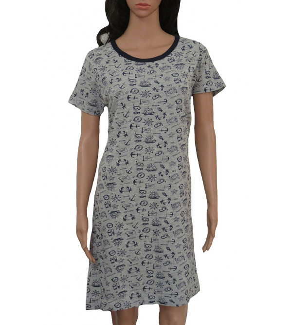 Ladies Printed Nightshirt