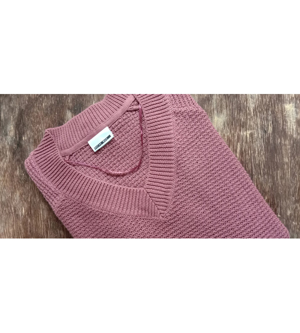 Ladies V Neck Knit Sweaters