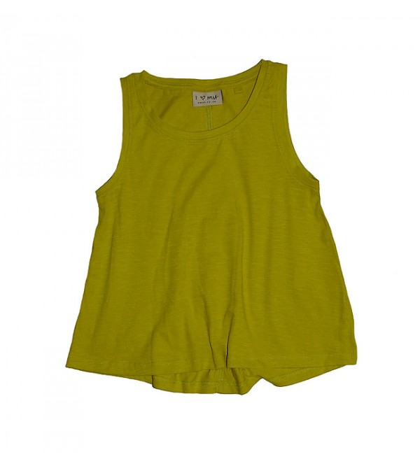 Girl Flared Slub Tops