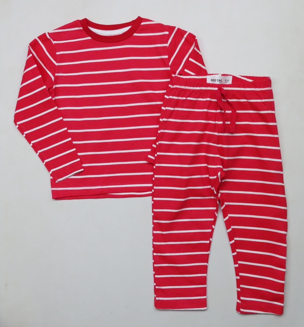 Baby Boys Striped Pyjama Sets