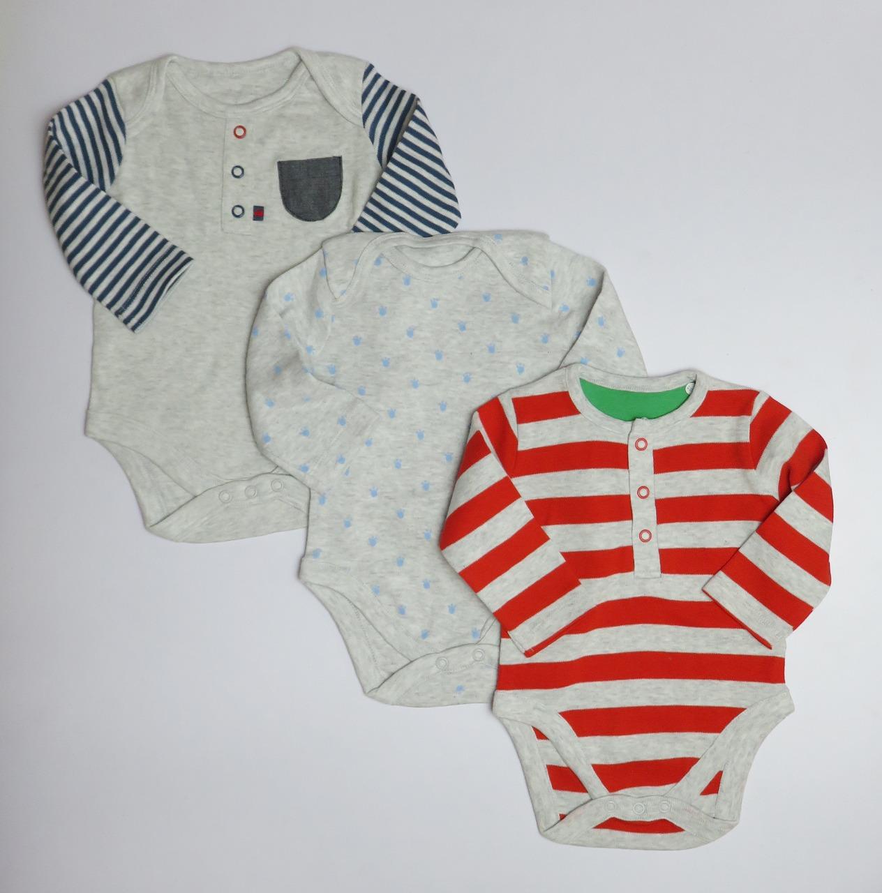 Baby 3 Pack Long Sleeve Bodysuits