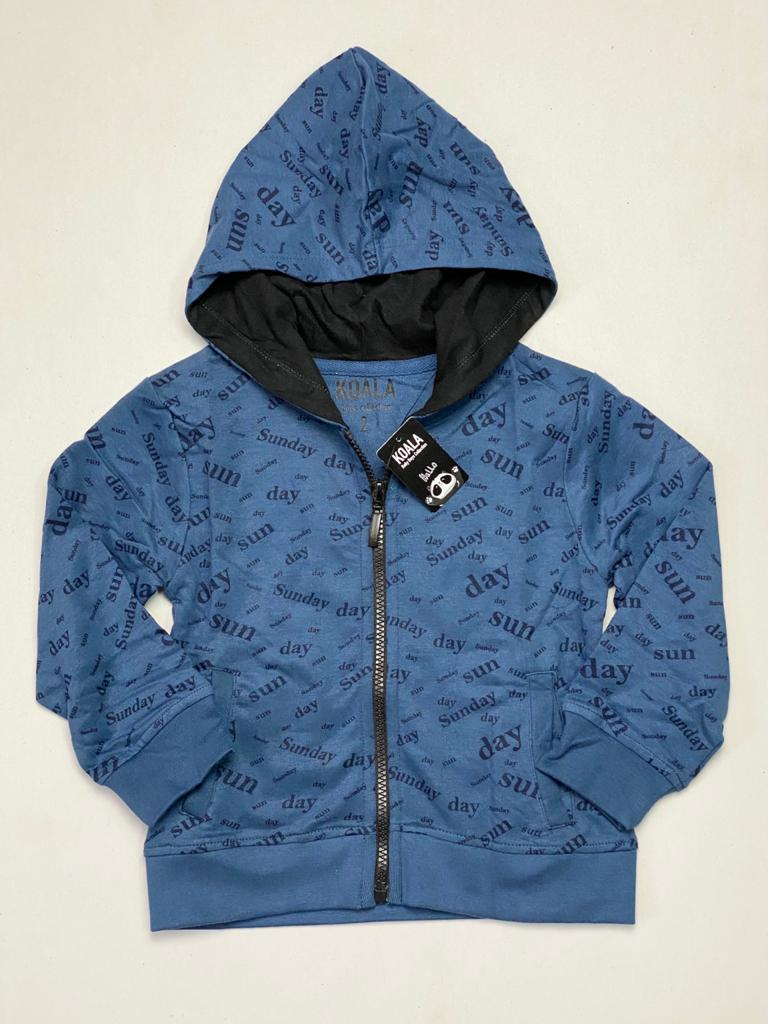 Boys Hooded Full Zipper Sweatshirt