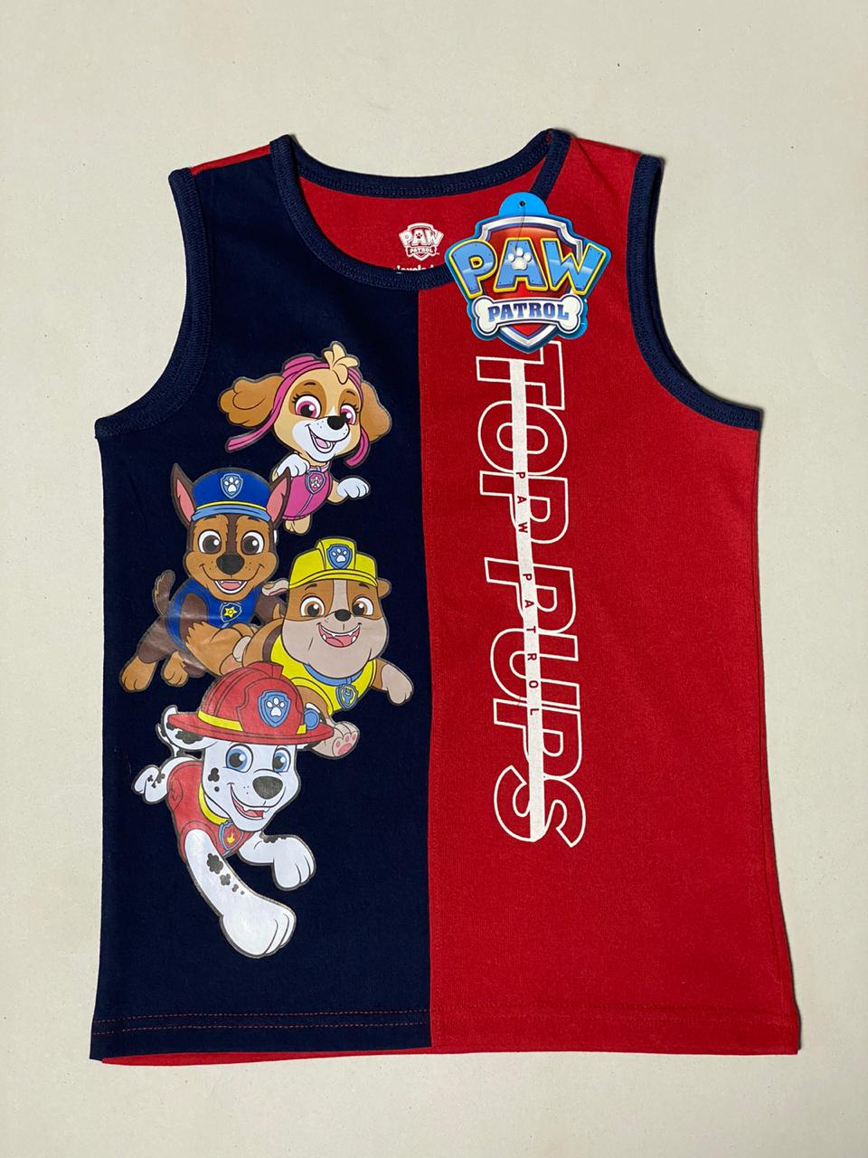 Paw Patrol Boys Muscle T Shirt