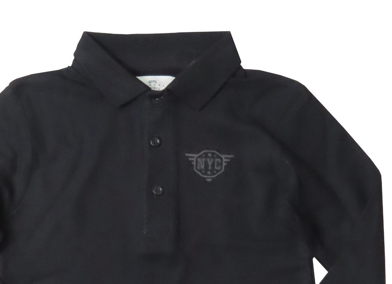 Boys Long Sleeve Collar T Shirts