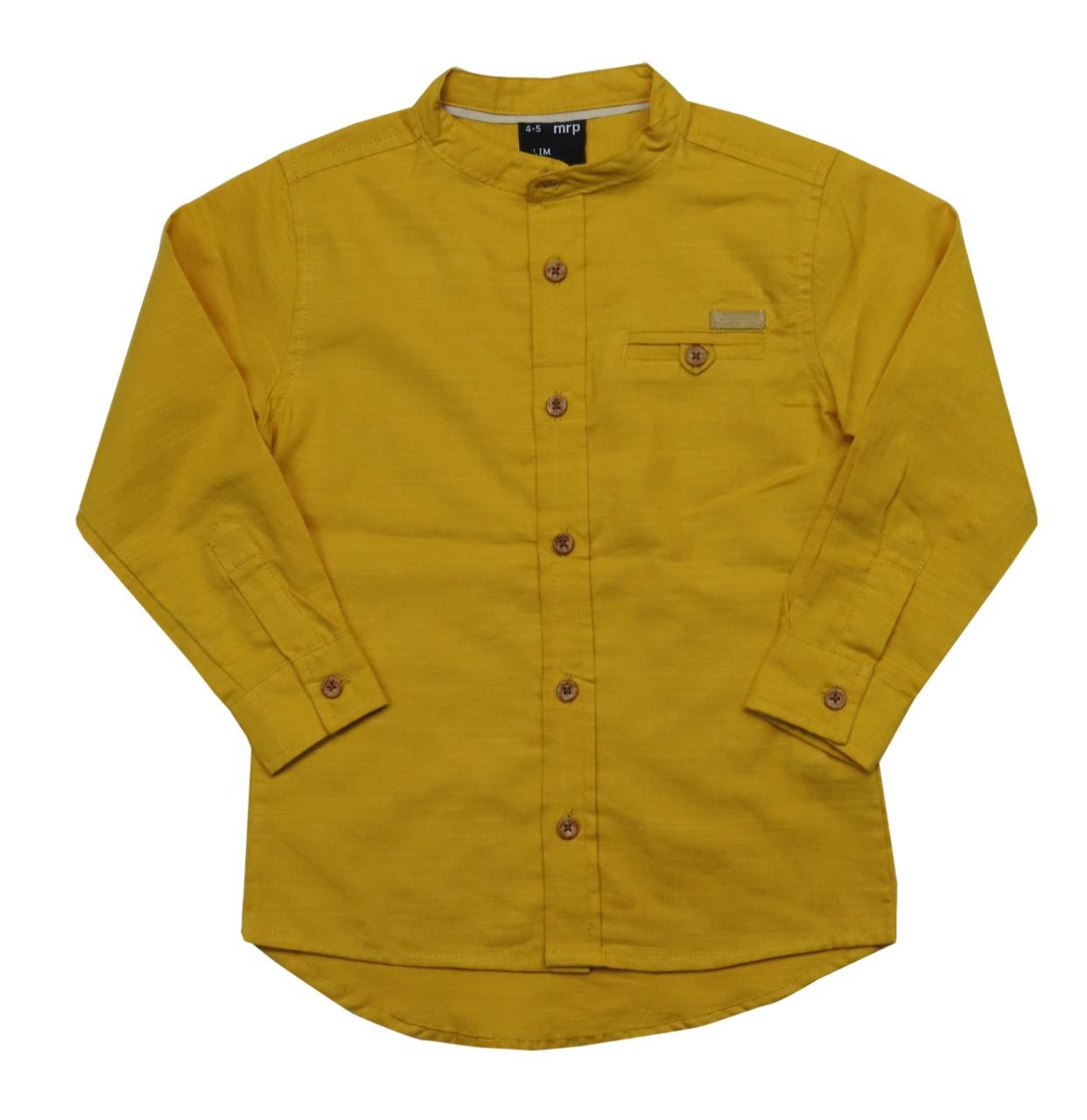 Boys  Mandarin Collar Woven Shirt