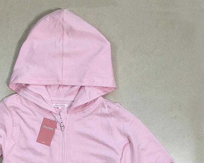 Girls Full Zipper Hooded Sweatshirt
