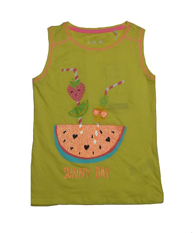 Sunny Day Girls Glitter Print T Shirt