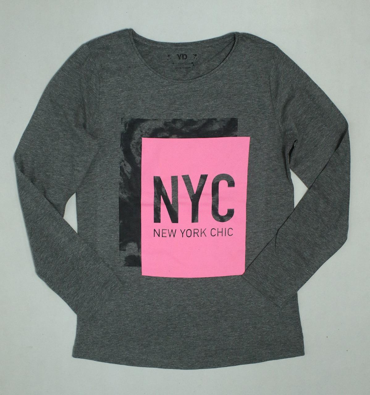 Older Girls Long sleeve Glitter Printed T Shirt