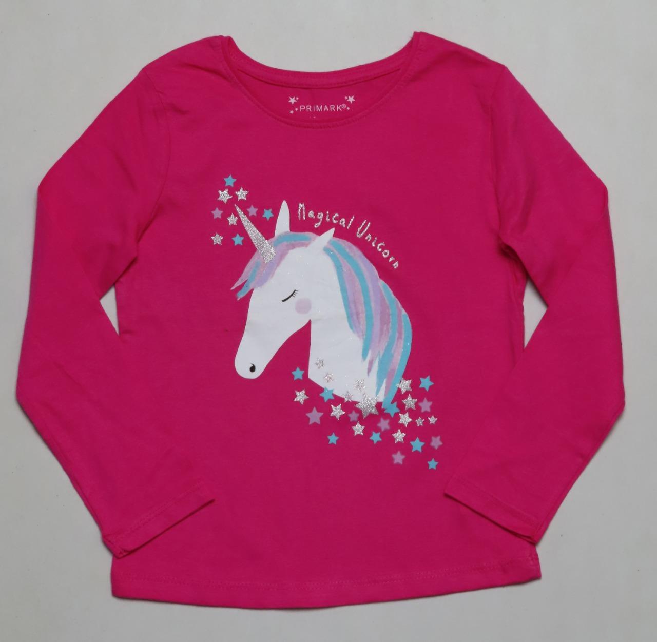 Unicorn Glitter Printed Girls T Shirt